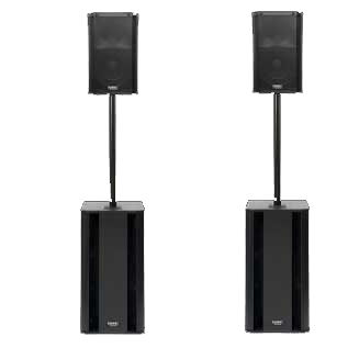 Ultimate QSC K10 Speaker Package with Subwoofers