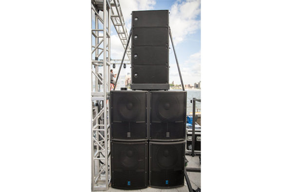 30000Watt RCF Line Array 4x4 with Yorkville Subwoofers